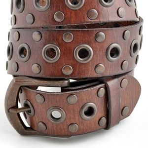 Accessories - Genuine Leather Grommet Belt